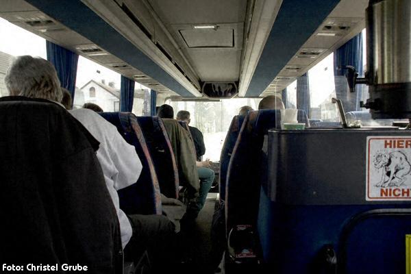 Unterwegs im Bus ...
