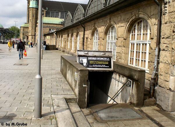 Eingang zum Tiefbunker Steintorwall