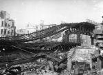 Trümmer des Viadukts der Linie nach Rothenburgsort 1943 (Quelle: Hamburger Hochbahn AG, Archiv)