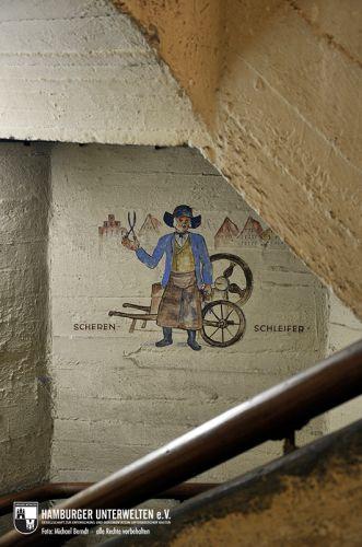Wandbild im östlichen Treppenhaus